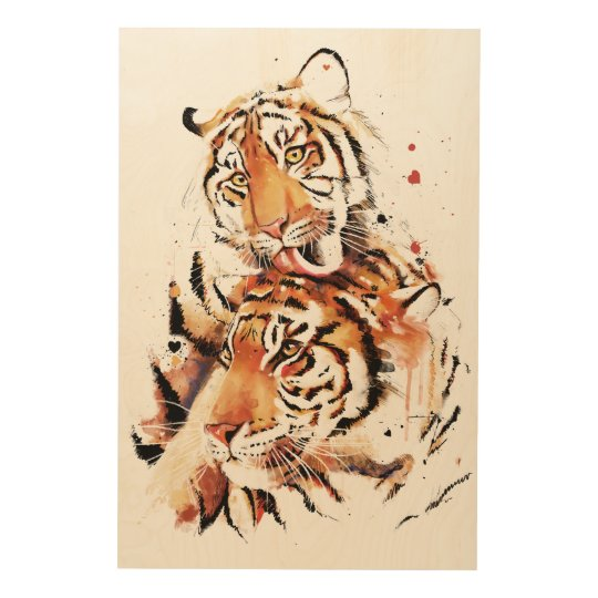 Beautiful tigers, big cats wood prints