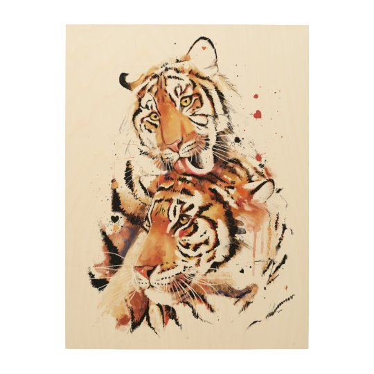 Beautiful tigers, big cats wood wall decor