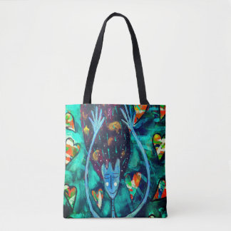 Beautiful tote bag 'Raining Love'