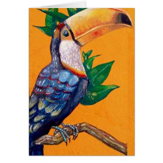 Beautiful Toucan Bird Painting Card