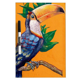 Beautiful Toucan Bird Painting Dry Erase Board