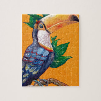 Beautiful Toucan Bird Painting Jigsaw Puzzle