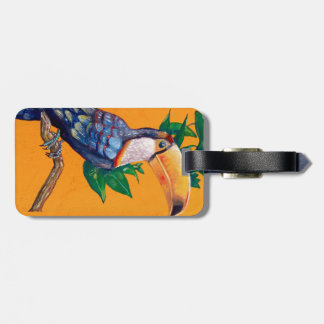 Beautiful Toucan Bird Painting Luggage Tag