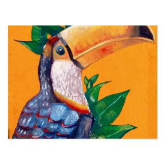 Beautiful Toucan Bird Painting Postcard