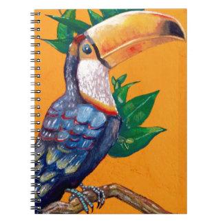 Beautiful Toucan Bird Painting Spiral Notebook