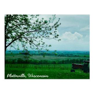 Beautiful Tractor Platteville, Wisconsin Postcard