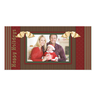 Beautiful, traditional Christmas design Personalized Photo Card