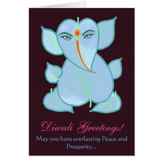 Beautiful Traditional Diwali Greetings Card