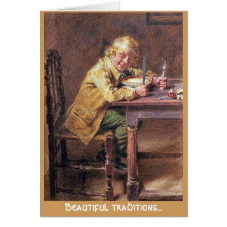 Beautiful traditions Christmas Pie greeting card