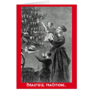 Beautiful traditions Christmas Tree greeting card
