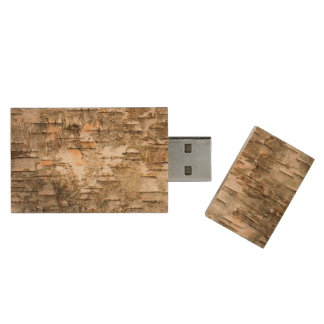 Beautiful Tree Bark Design Wood USB Flash Drive