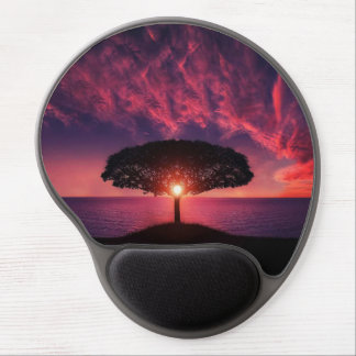 Beautiful tree colorful nature scenery gel mouse pad