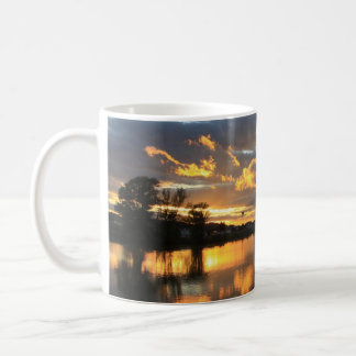 Beautiful Tree Skyline over Lake at Sunset Mug