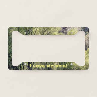 Beautiful Trees And Love License Plate Frame