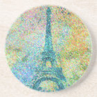 Beautiful trendy girly vintage Eiffel Tower France Coaster