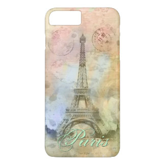 Beautiful trendy girly vintage Eiffel Tower France iPhone 7 Plus Case