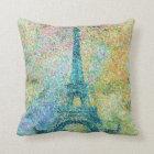 Beautiful trendy girly vintage Eiffel Tower Throw Pillow