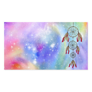 Beautiful trendy whimsical  dream-catcher feathers pack of standard business cards