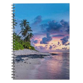 Beautiful Tropical Beach Bliss Notebook