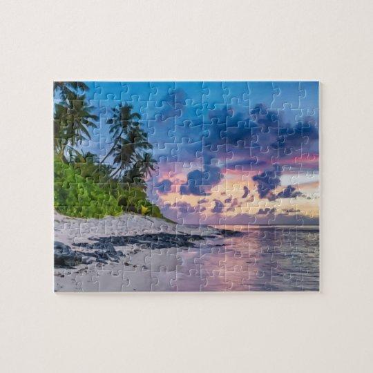 Beautiful Tropical Beach Ocean Vacation Jigsaw Puzzle