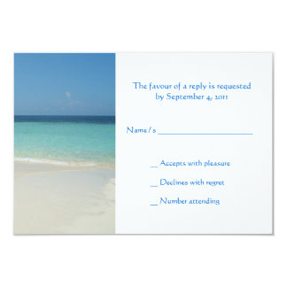 Beautiful Tropical Beach Wedding RSVP -small Card