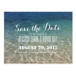 Beautiful Tropical Beach Wedding Save the Date Postcard