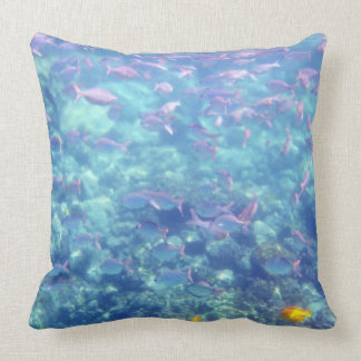 Beautiful Tropical Fish in Turquoise Water Throw Pillow
