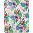 Beautiful tropical floral paint watercolors iPad cover