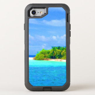 Beautiful Tropical Island Beach in the Maldives OtterBox Defender iPhone 7 Case