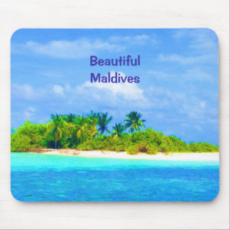 Beautiful Tropical Island in the Maldives Mouse Pad