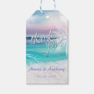BEAUTIFUL TROPICAL OCEAN SUNRISE Favor Tag Pack Of Gift Tags