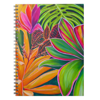 Beautiful Tropical Palms and Flowers  Notebook