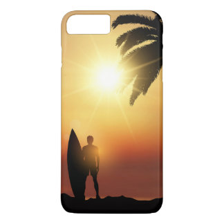 Beautiful Tropical Sunset Surfer | Phone Case