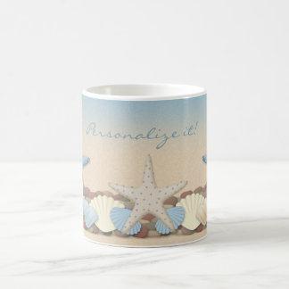 Beautiful Tropical Theme Beach Shells Coffee Mugs
