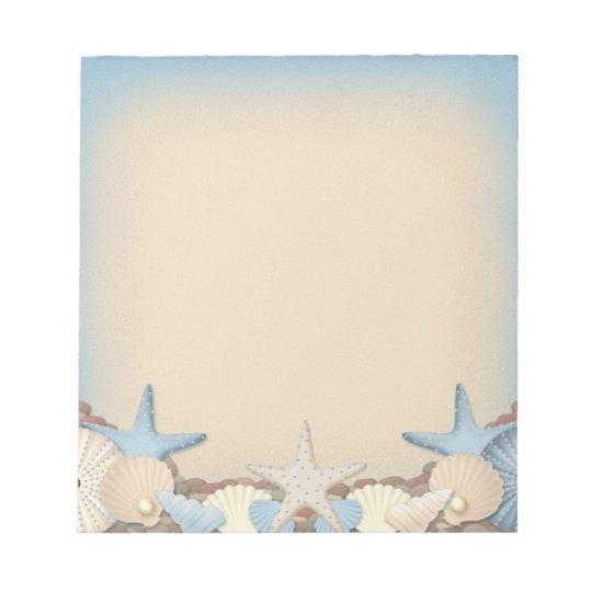 Beautiful Tropical Theme Beach Shells Notepad