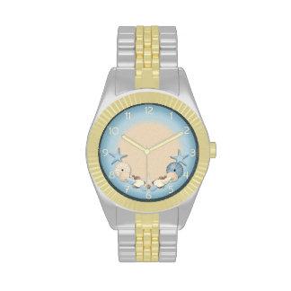Beautiful Tropical Theme Beach Shells Wrist Watch