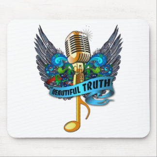 Beautiful Truth Microphone and Note Mouse Pad