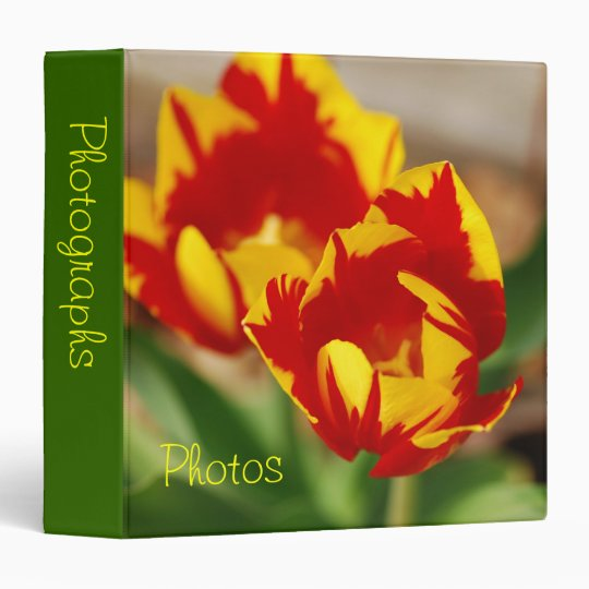 "Beautiful Tulips 1.5"" Photo Album Binder"