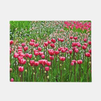 Beautiful Tulips In Bloom Doormat