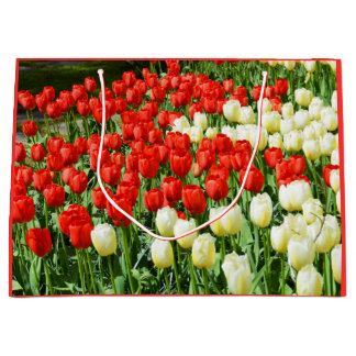 Beautiful tulips large gift bag