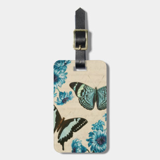 Beautiful turquoise butterfly luggage tag