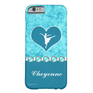 Beautiful Turquoise Dancer with Monogram Barely There iPhone 6 Case