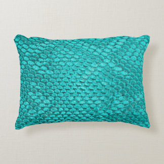 Beautiful turquoise snake texture Pillow