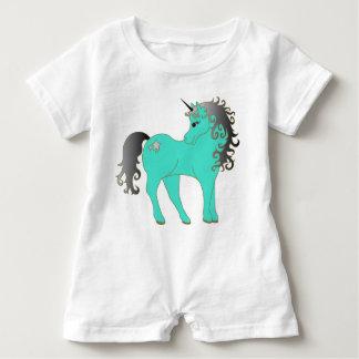 Beautiful Turquoise Unicorn Baby Romper