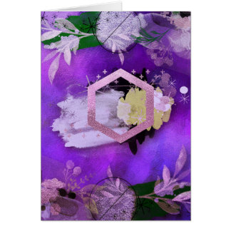 beautiful, ultra violet, abstract,collage,silver, card