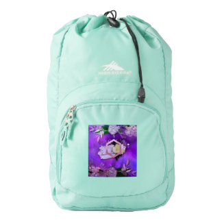 beautiful, ultra violet, abstract,collage,silver,f backpack