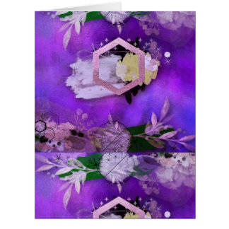 beautiful, ultra violet, abstract,collage,silver,f card
