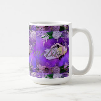beautiful, ultra violet, abstract,collage,silver,f coffee mug