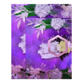 beautiful, ultra violet, abstract,collage,silver,f flyer
