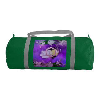 beautiful, ultra violet, abstract,collage,silver,f gym bag